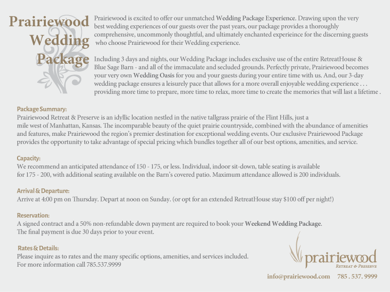 Wedding Package Details